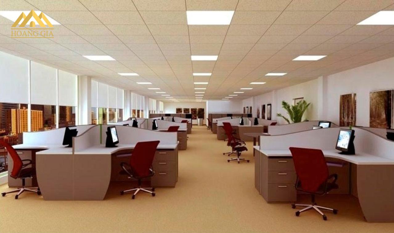 Ứng dụng chiếu sáng đèn led Panel cho văn phòng