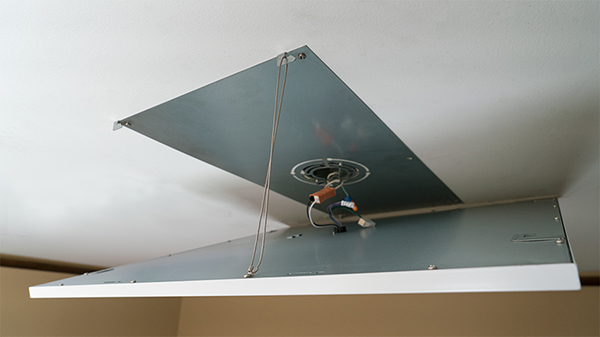 Lắp đặt đèn led panel mỏng thả trần bằng dây
